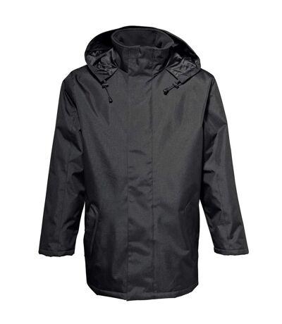 2786 Mens Plain Parka Jacket (Water & Wind Resistant) (Black) - UTRW2505