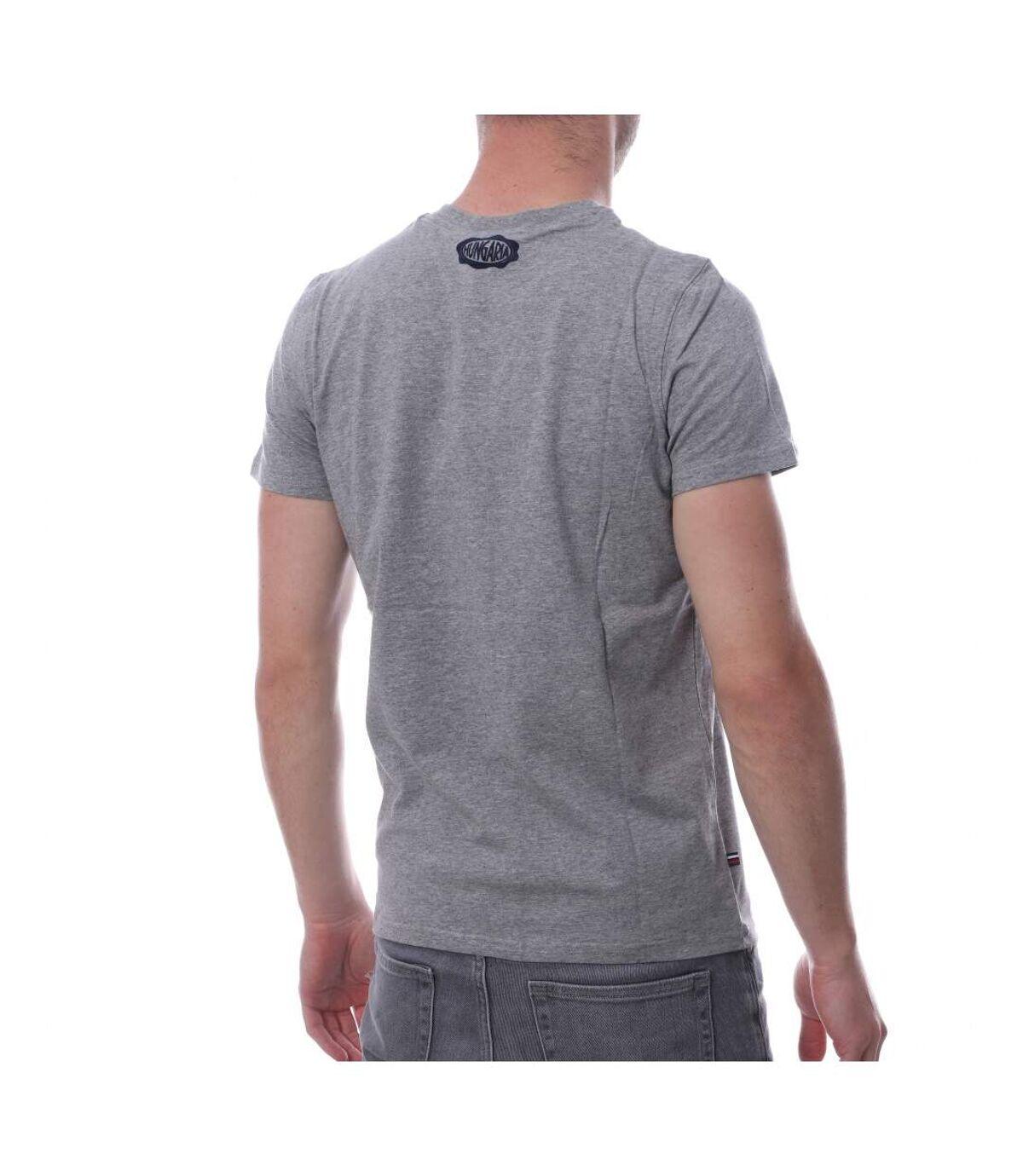 Tee Shirt Gris Homme Hungaria Legend V Neck