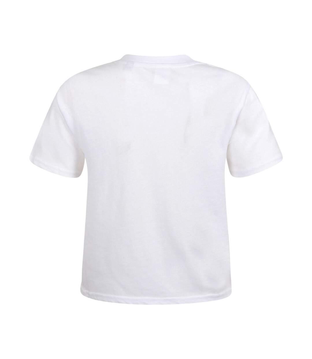 Skinni Fit - T-Shirt Court Boxy - Femme (Blanc) - UTPC3560