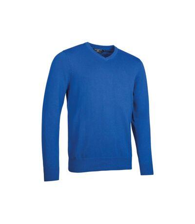 Glenmuir Mens Touch Of Cashmere V Neck Sweater (Ascot Blue) - UTPC3615
