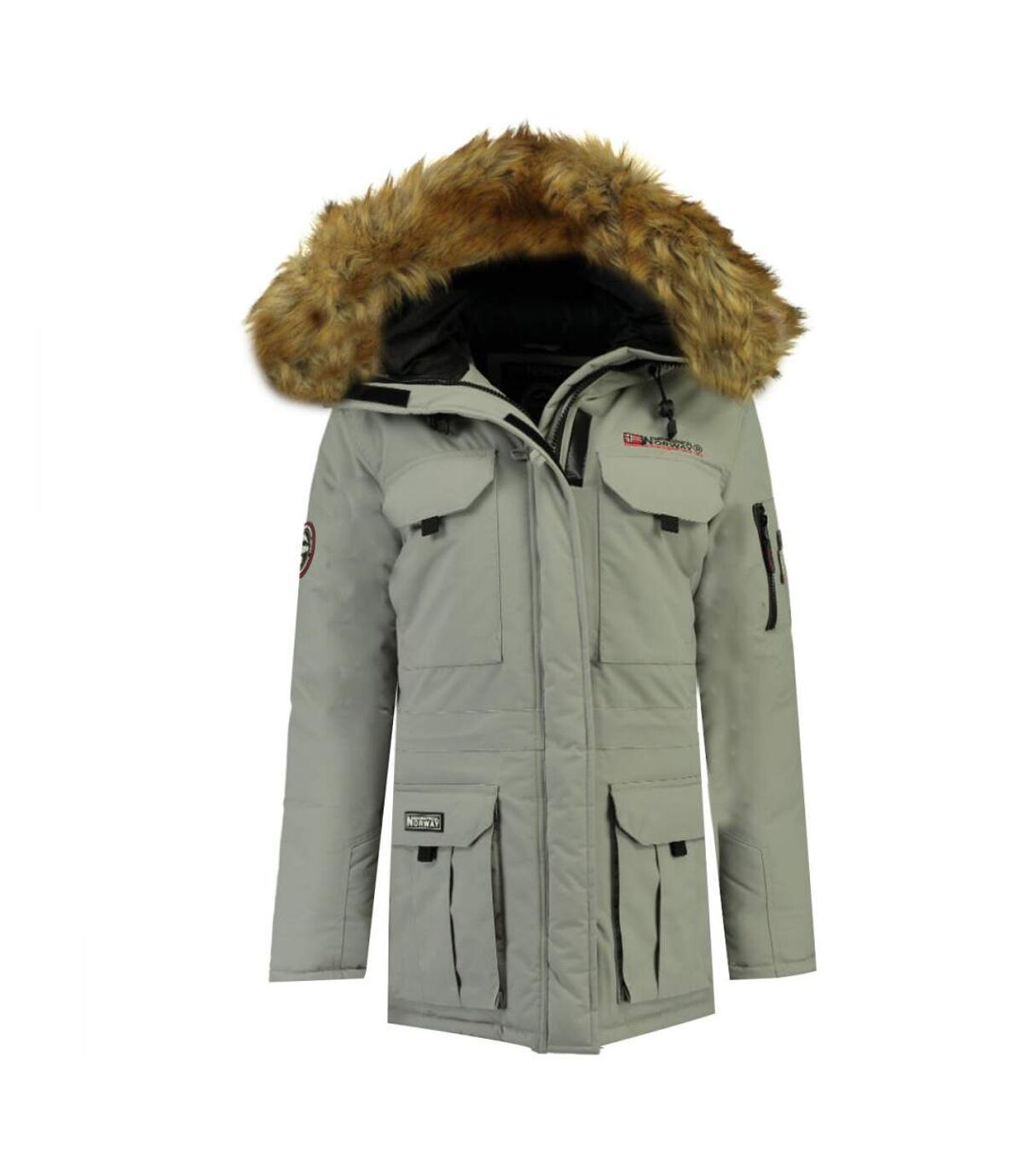 Parka gris clair homme Geographical Norway Alpes