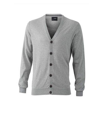 Pull boutonné cardigan cachemire - HOMME - JN668 - gris clair