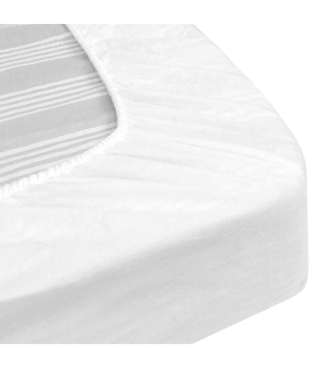 Protège matelas imperméable 110x200 cm bonnet 23cm ARNON molleton 100% coton contrecollé polyuréthane