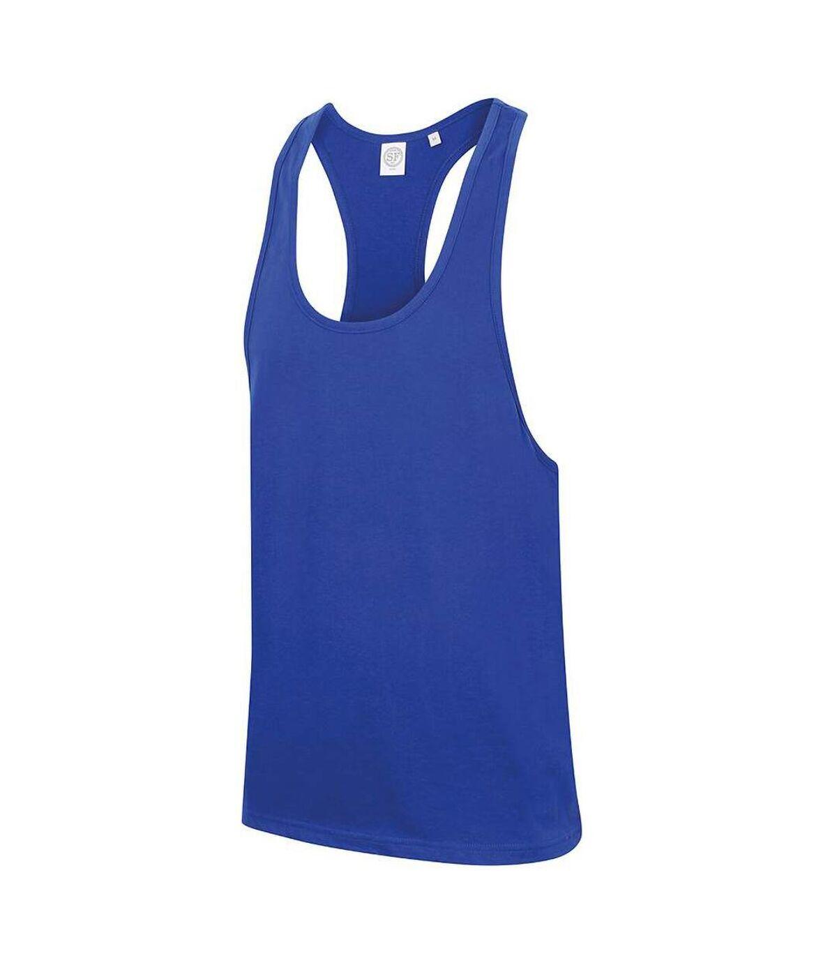 Skinnifit Mens Plain Sleeveless Muscle Vest (Royal) - UTRW4741