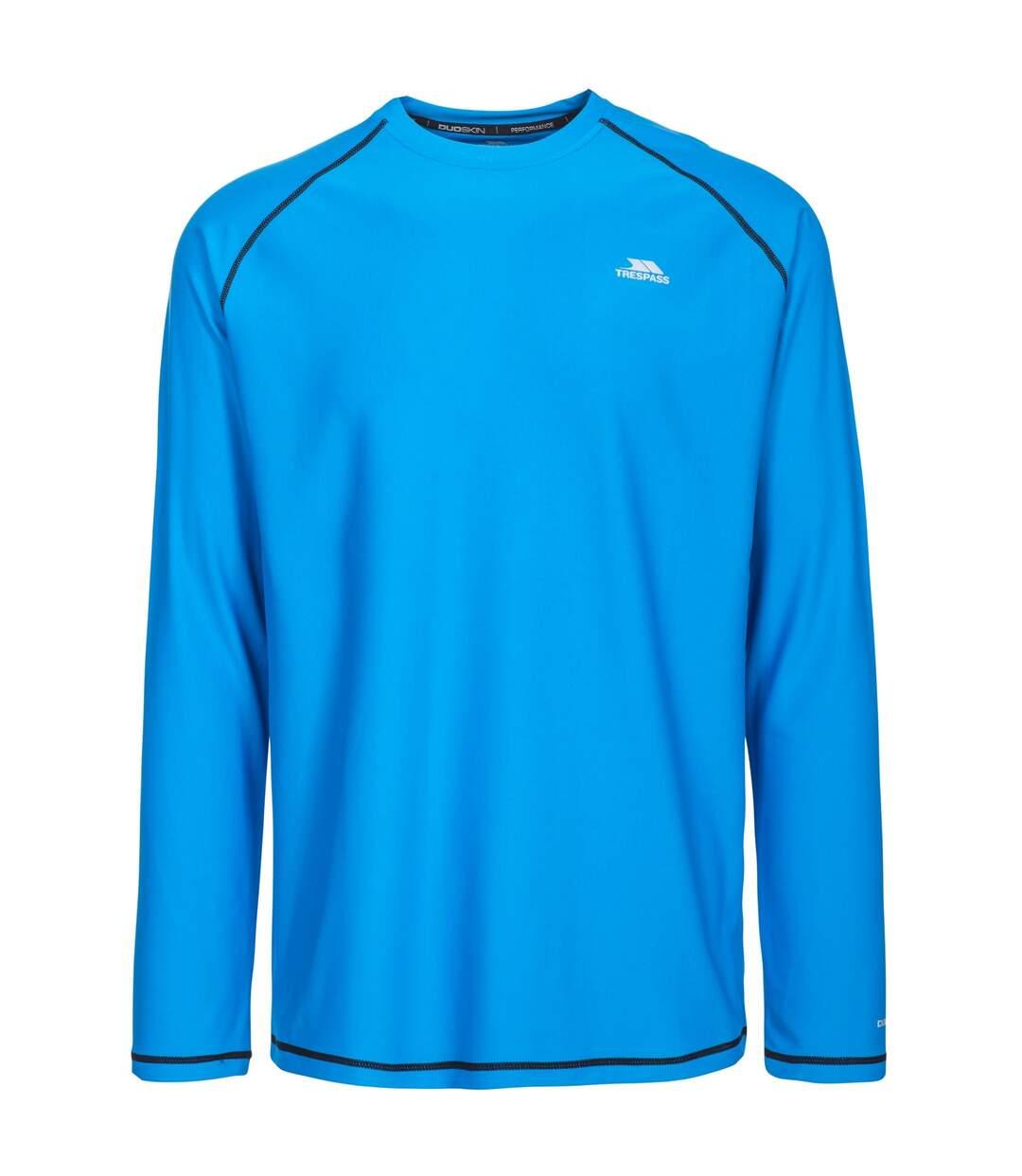 Trespass Mens Burrows Long Sleeve Active Top (Bright Blue) - UTTP4559