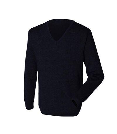 Henbury - Pullover avec col en V - Homme (Bleu marine) - UTRW659