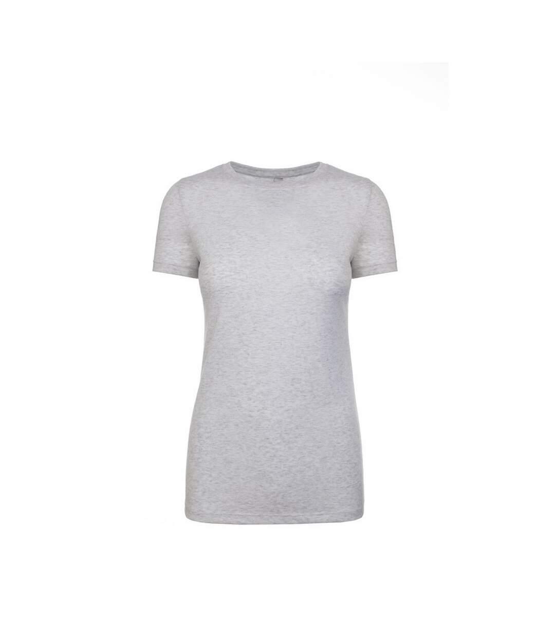 Next Level - T-Shirt Manches Courtes - Femme (Blanc chiné) - UTPC3496