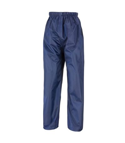 Result Mens Core Stormdri Rain Over Trousers / Pants (Navy Blue) - UTBC2053