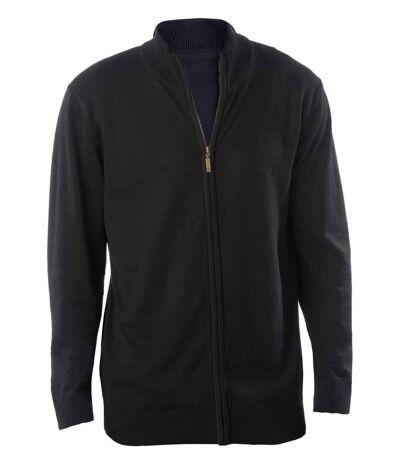 Gilet zippé cardigan K961 - homme - noir