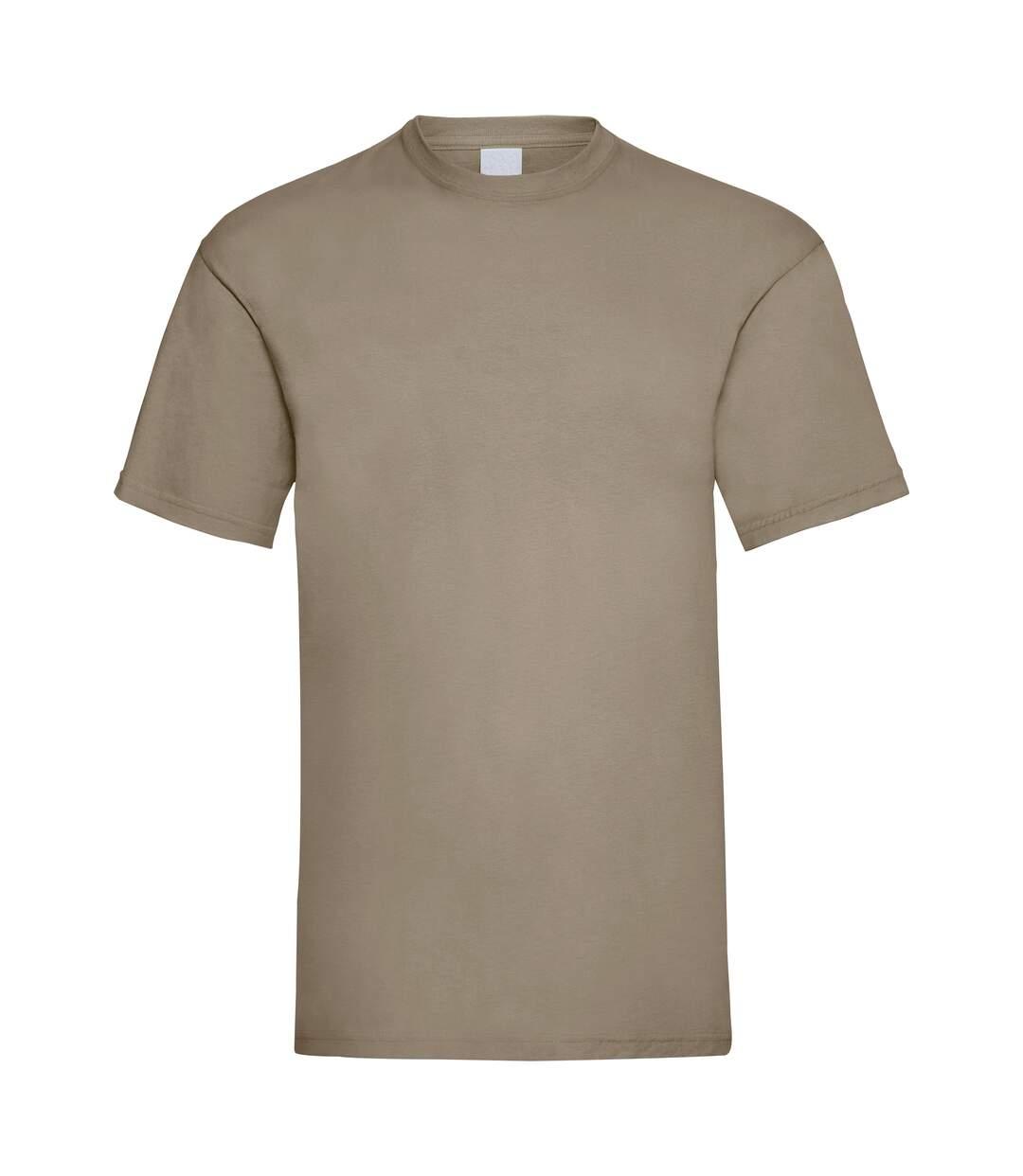 Mens Value Short Sleeve Casual T-Shirt (Sand) - UTBC3900