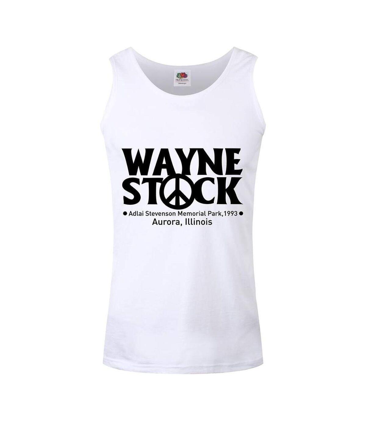 Grindstore Mens Wayne Stock Vest Top (White/Black) - UTGR4243