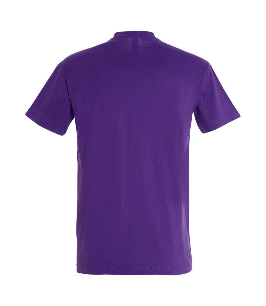 SOLS Mens Imperial Heavyweight Short Sleeve T-Shirt (Dark Purple) - UTPC290
