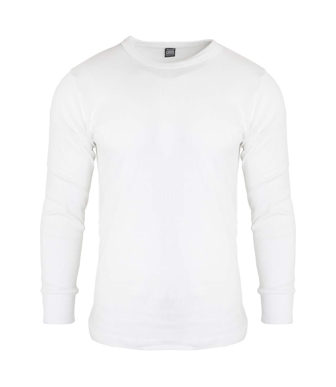FLOSO - T-shirt thermique à manches longues - Homme (Blanc) - UTTHERM22