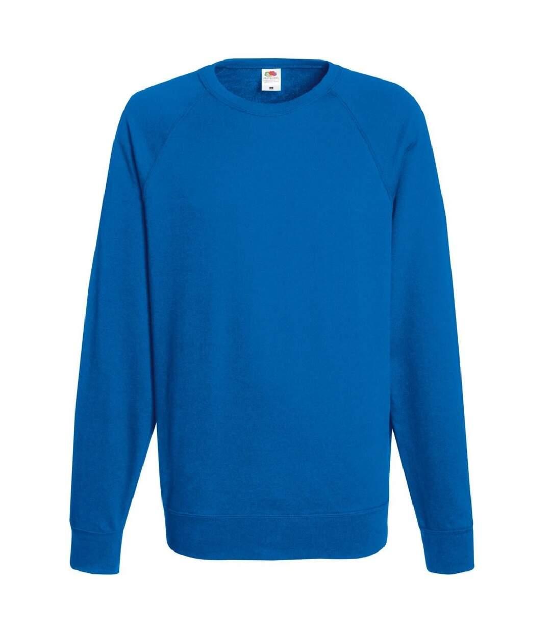 Fruit Of The Loom Mens Lightweight Raglan Sweatshirt (240 GSM) (Royal) - UTBC2653