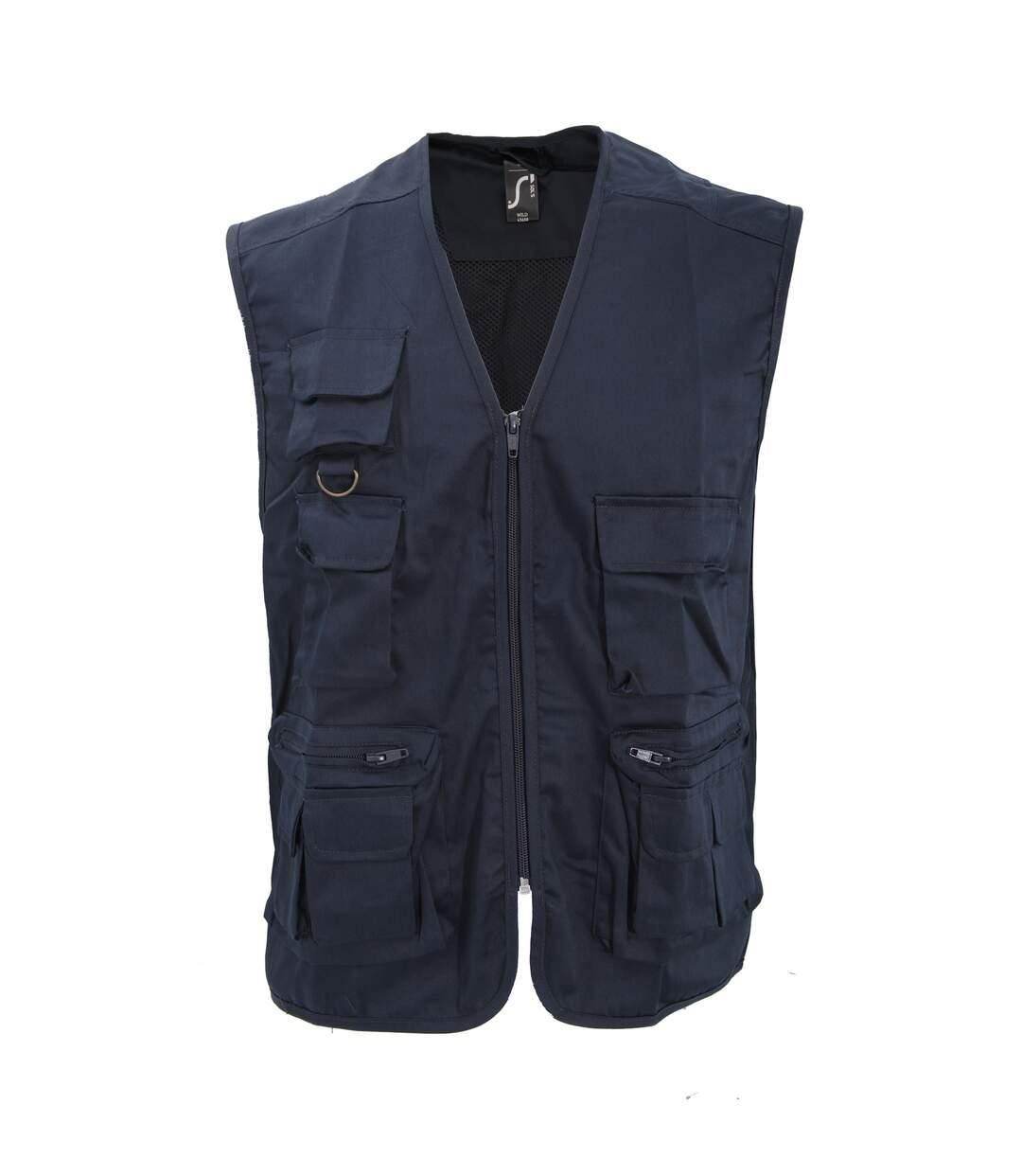 SOLS Wild Unisex Full Zip Waistcoat Bodywarmer Jacket (Navy) - UTPC354