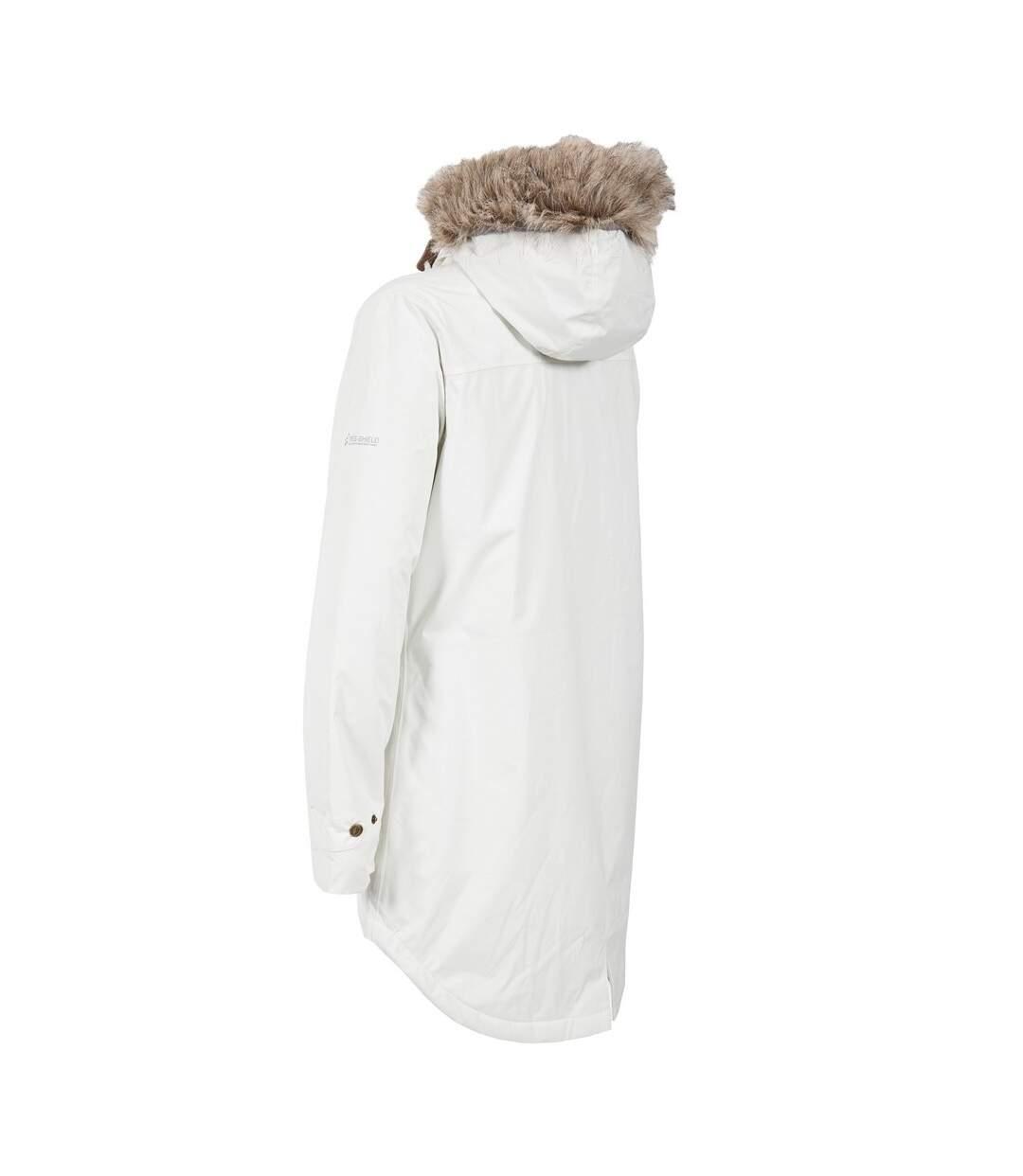 Trespass Womens/Ladies Clea Waterproof Parka Padded Jacket (Ghost) - UTTP4500