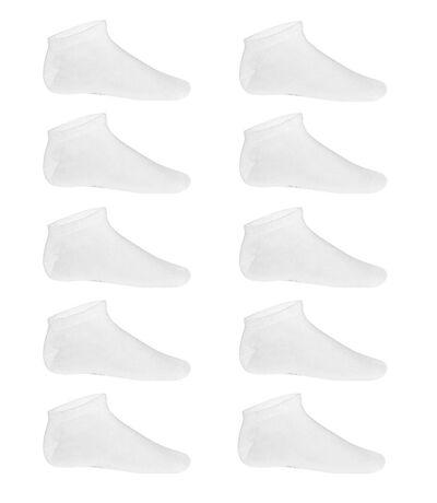 Lot 10 Paires de socquettes invisibles - PA037 - blanc