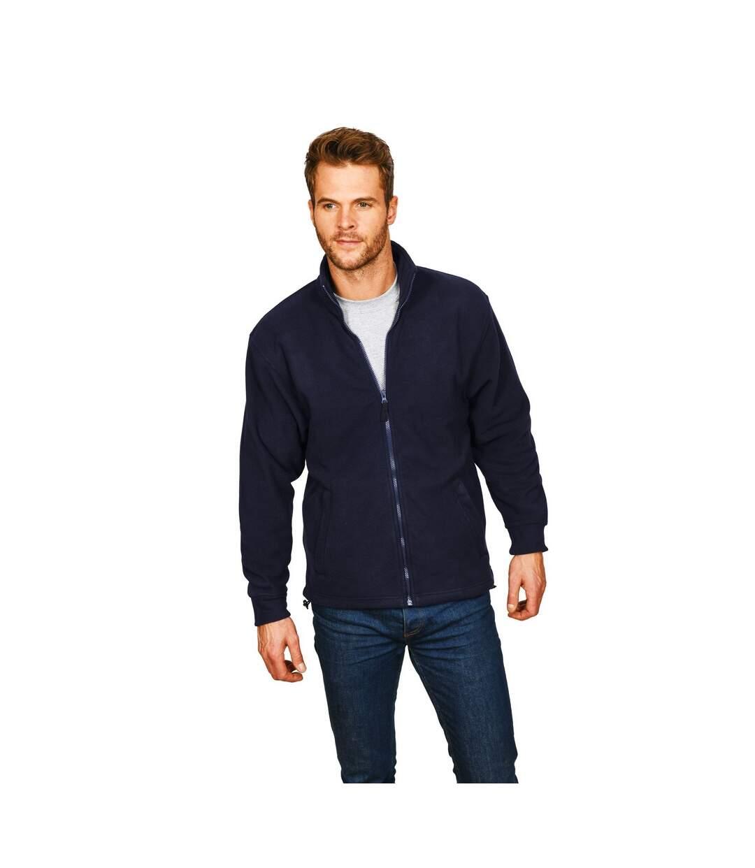 Absolute Apparel Mens Brumal Full Zip Fleece (Black) - UTAB131