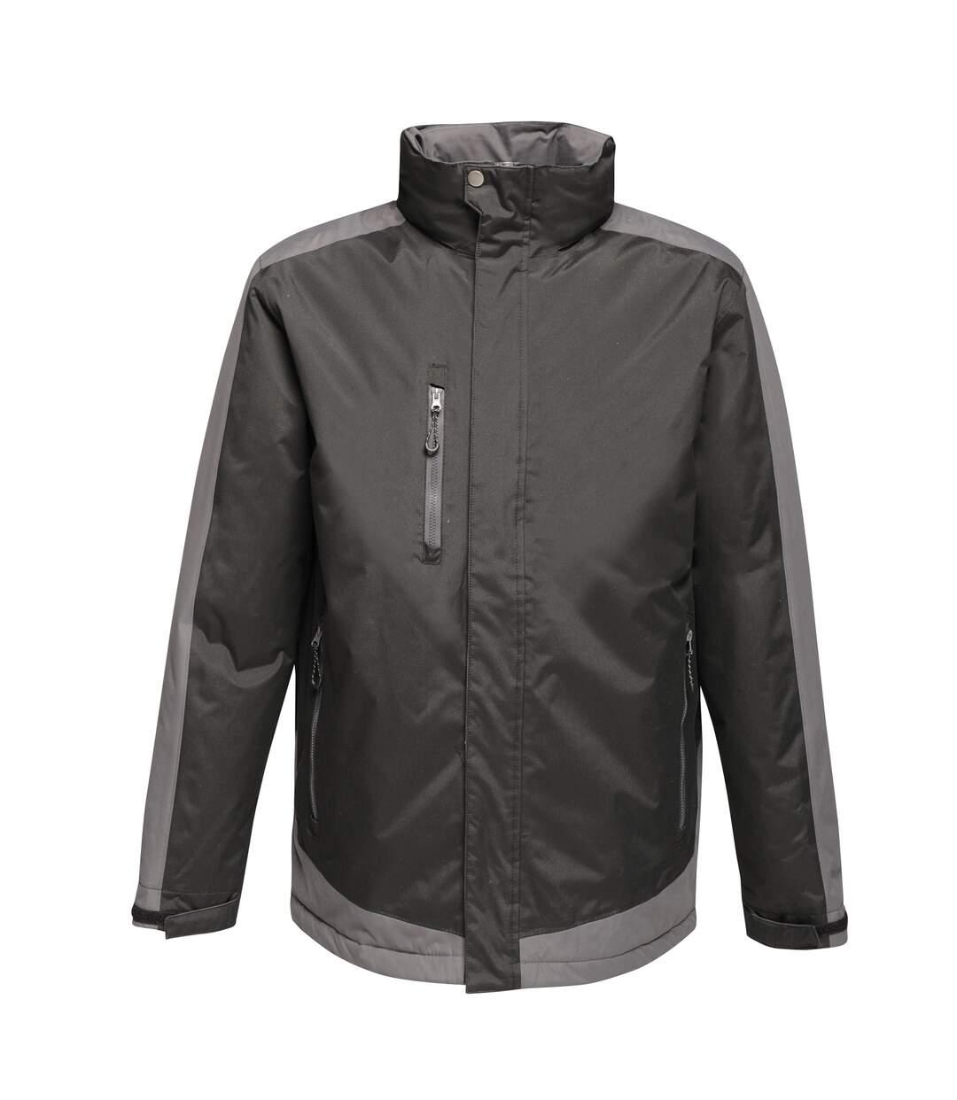 Regatta Contrast Mens Insulated jacket (Black/Seal) - UTRW6354