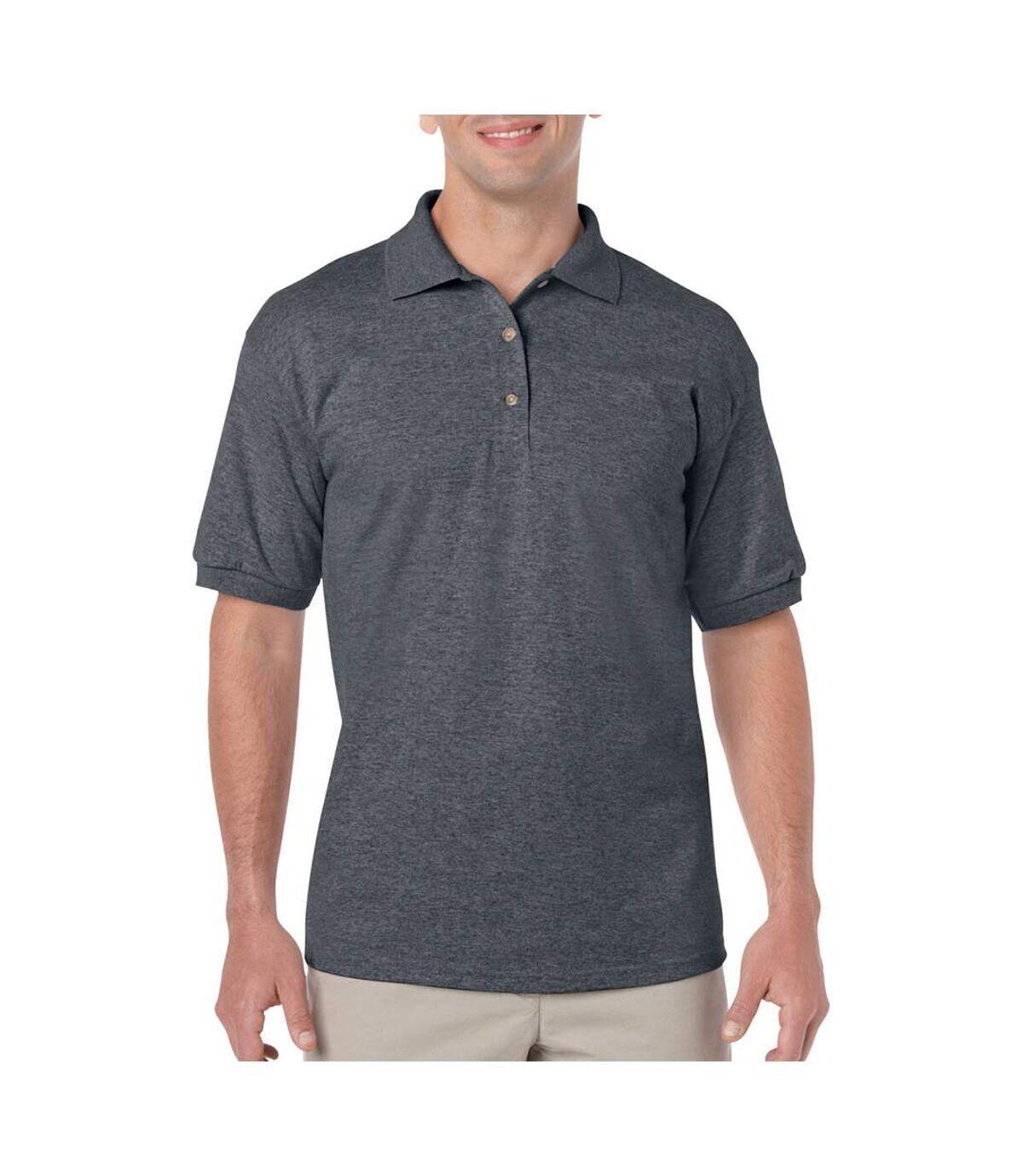 Gildan Adult DryBlend Jersey Short Sleeve Polo Shirt (White) - UTBC496