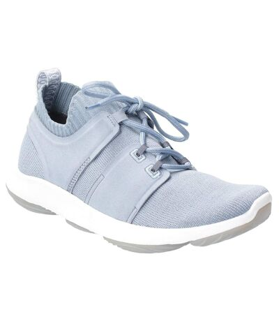 Hush Puppies Womens World BounceMax Lace Up Trainer (Dusty Blue) - UTFS6569