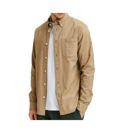 Chemise marron homme Selected SLHREGRICK-OX