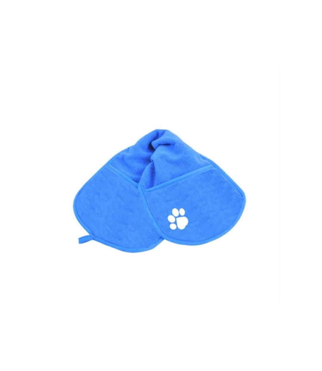 Paris Prix - Serviette De Bain Pour Chien doggy 63cm Bleu