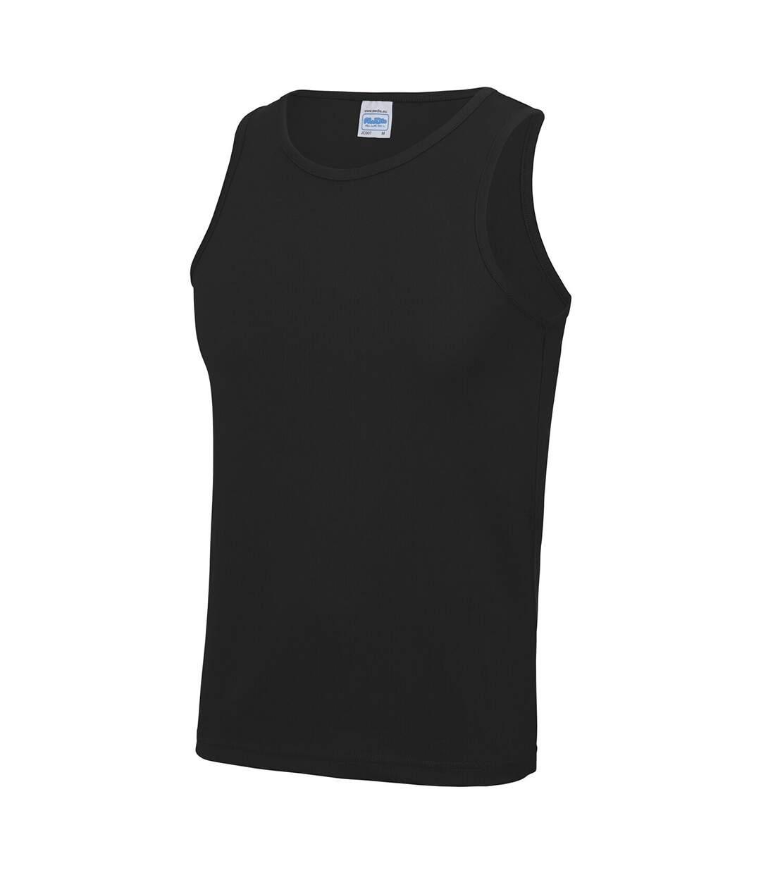 Just Cool Mens Sports Gym Plain Tank / Vest Top (Orange Crush) - UTRW687