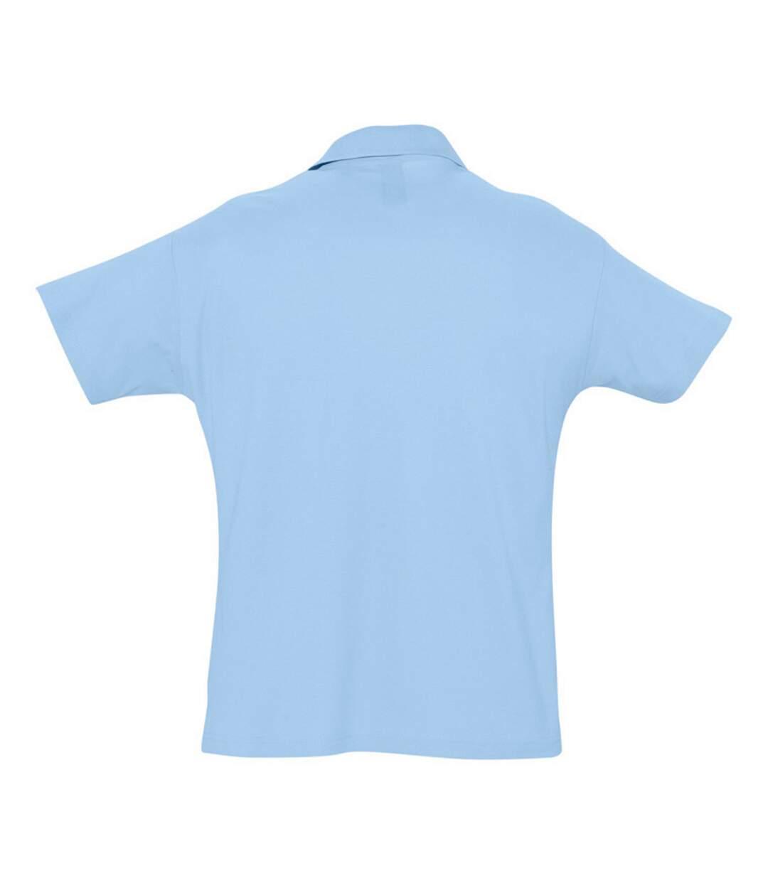 SOLS Mens Summer II Pique Short Sleeve Polo Shirt (Sky Blue) - UTPC318