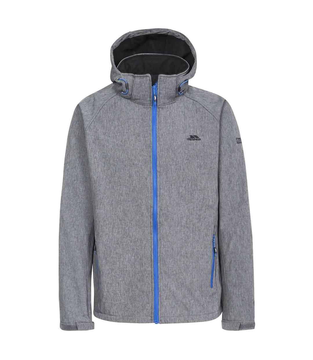 Trespass Mens Rafi Waterproof Softshell Jacket (Dark Grey Marl) - UTTP3572