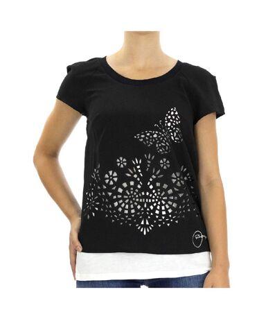 T-Shirt Noir Femme Desigual Desdemona