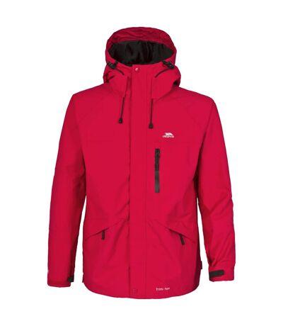 Trespass Mens Corvo Hooded Full Zip Waterproof Jacket/Coat (Red) - UTTP296