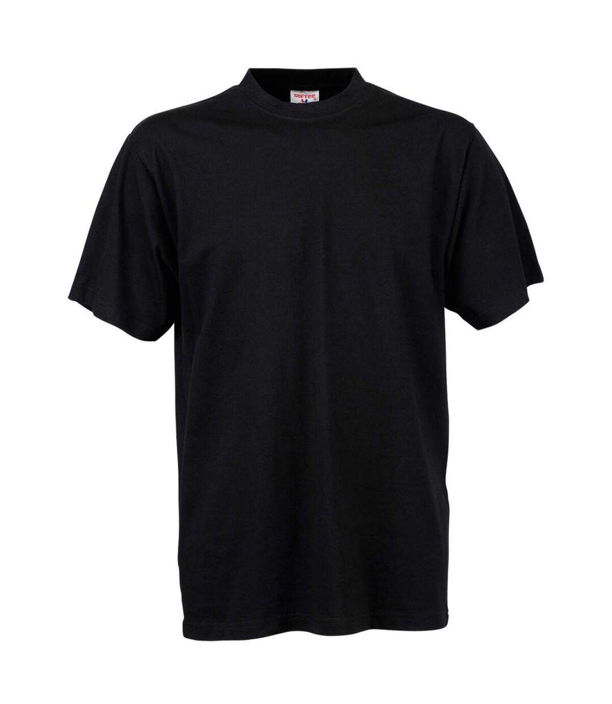 Tee Jays Mens Short Sleeve T-Shirt (Black) - UTBC3325