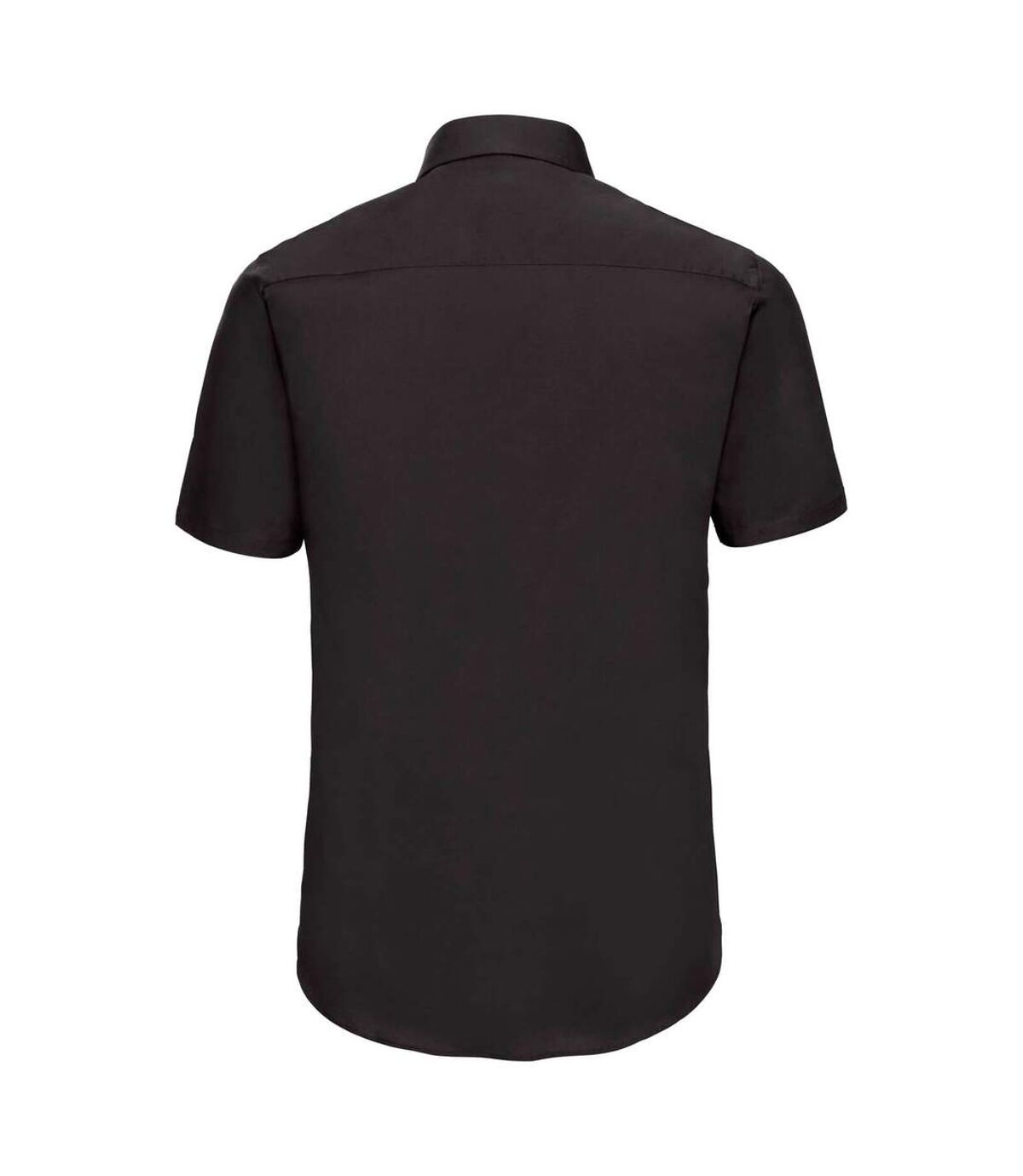 Russell Collection Mens Short Sleeve Easy Care Fitted Shirt (Black) - UTBC1033