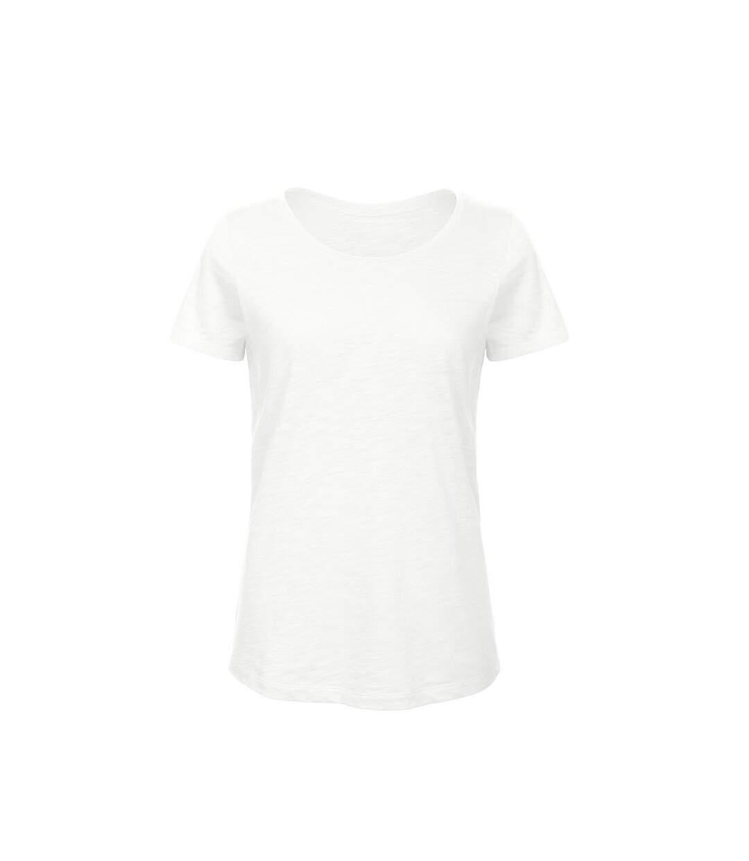 B&C Favourite - T-Shirt En Coton Bio - Femme (Blanc) - UTBC3643