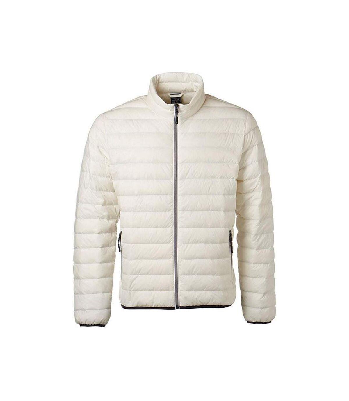 James and Nicholson Mens Light Down Jacket (Off-White/Off-White) - UTFU474