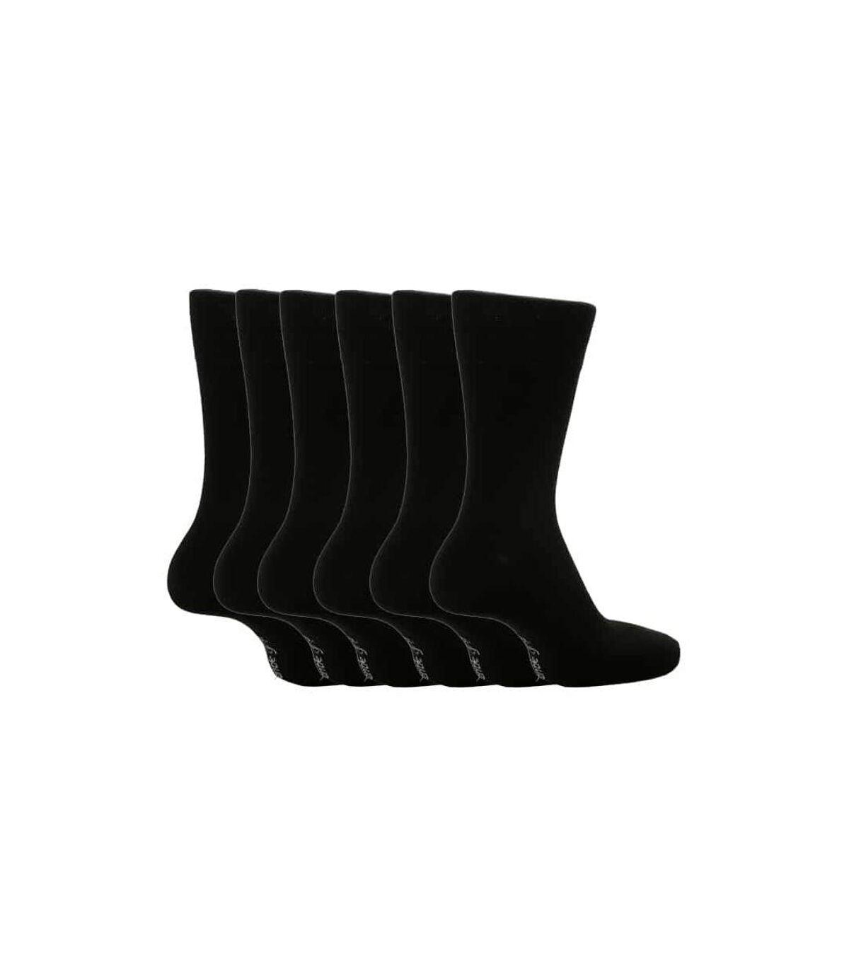 6 Pk Mens Gentle Grip Non Elastic Socks 6-11