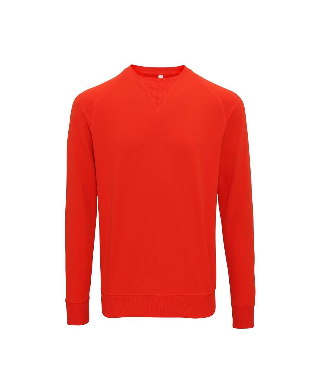 Asquith & Fox Mens Coastal Vintage Wash Loop Back Sweatshirt (Paprika) - UTRW6240