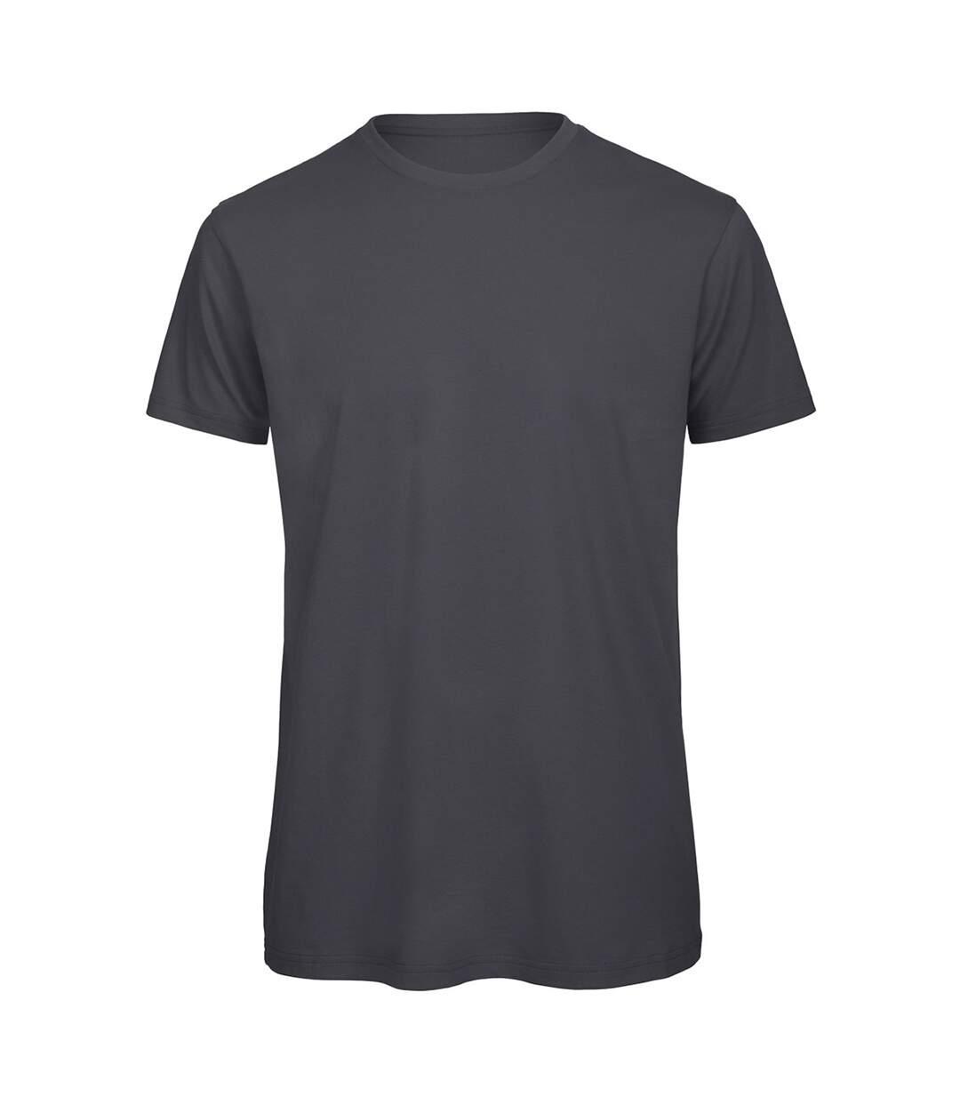 B&C Mens Favourite Organic Cotton Crew T-Shirt (Dark Grey) - UTBC3635