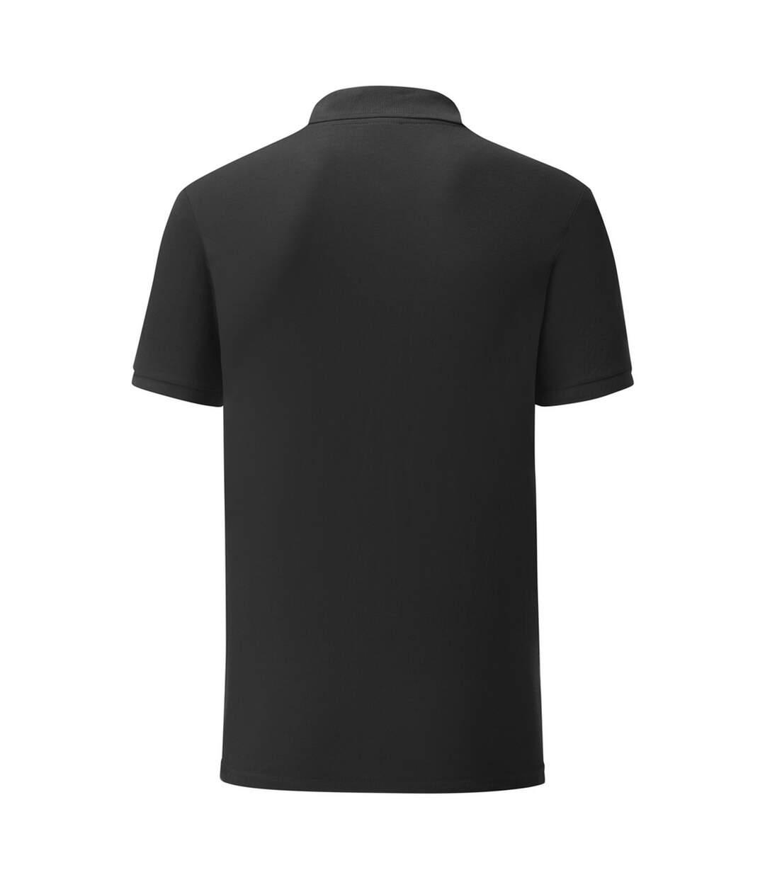 Fruit Of The Loom Mens Tailored Poly/Cotton Piqu Polo Shirt (Black) - UTPC3572