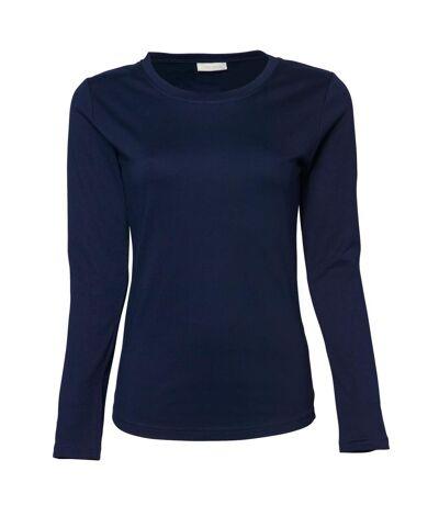 Tee Jays Womens/Ladies Interlock Long Sleeve T-Shirt (Navy Blue) - UTBC3322