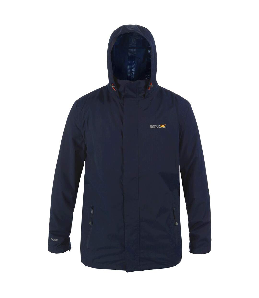 Regatta Great Outdoors Mens Outdoor Classic Matt Hooded Waterproof Jacket (Navy/Navy) - UTRG919