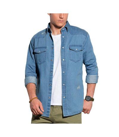 Chemise homme en jeans Chemise 567 bleu