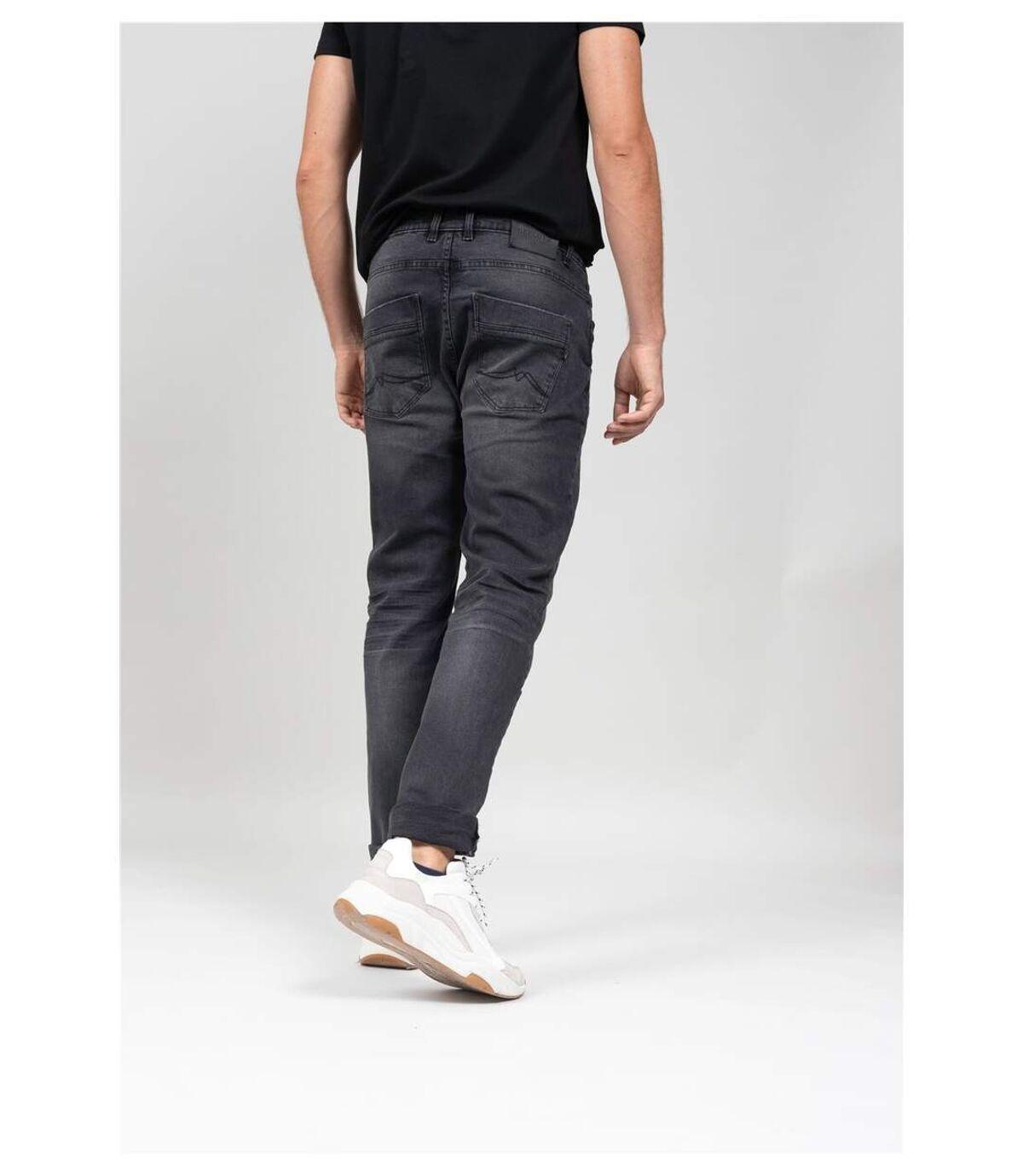 Jeans regular noir délavé STAN Deep Black Used