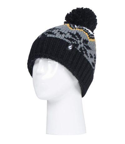 Heat Holders Womens Snowflake Hat with Pom Pom