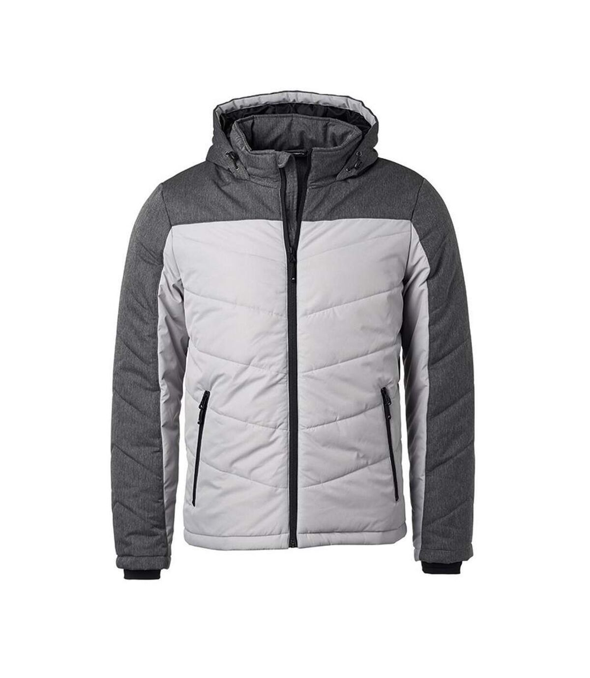 James and Nicholson Mens Winter Jacket (Silver/Anthracite Melange) - UTFU432