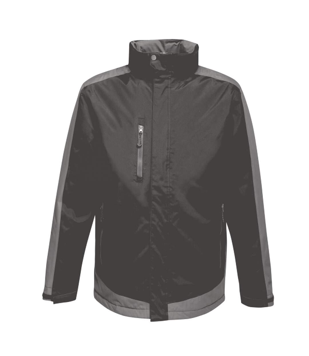 Regatta Mens Contrast Full Zip Jacket (Raspberry Red/Graphite Black) - UTRG3743