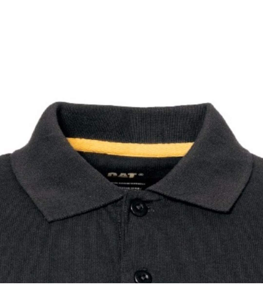 Caterpillar Mens Classic Short Sleeve Polo Shirt (Black) - UTFS4252