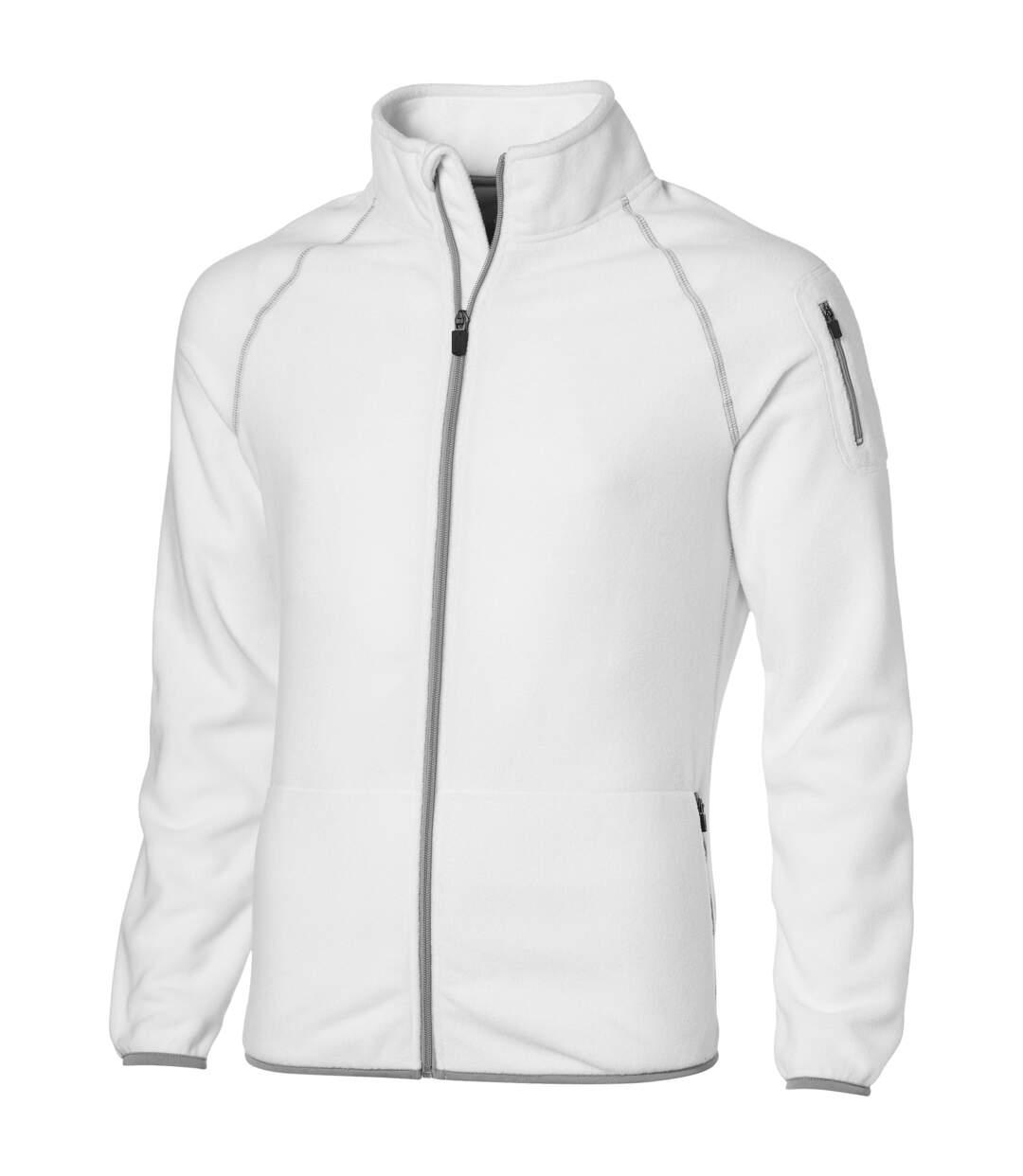 Slazenger Mens Drop Shot Full Zip Micro Fleece Jacket (White) - UTPF1795