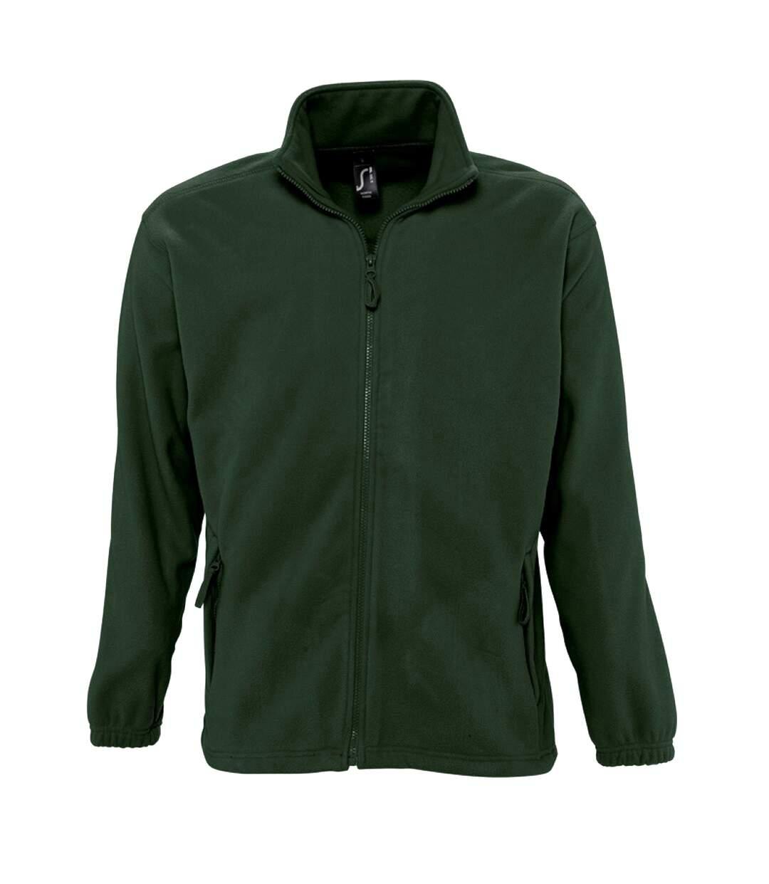 SOLS Mens North Full Zip Outdoor Fleece Jacket (Forest Green) - UTPC343